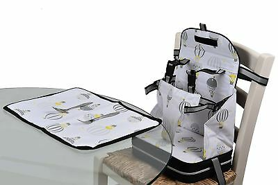 Polar Gear 5 Point Harness Booster Seat + Placemat Toddler Feeding NEW