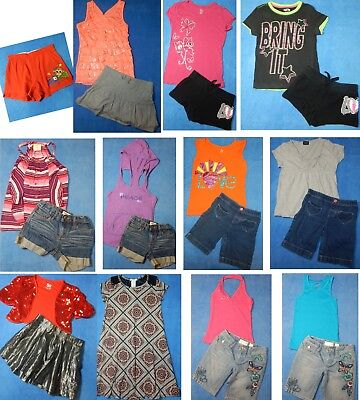 19 piece lot of nice clean Spring Summer girls clothing size 7-8 Everyday 3s48