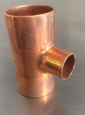"Nibco 1-1/2"" x 1-1/2"" x 3/4"" Copper T Tee Sweat Solder Pressure Fits 1-5/8"" Tube"