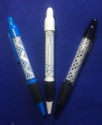 Bobbin Lace Pen Insert Kit. 3 New Designs by Harlequin Lace. Quick Kits