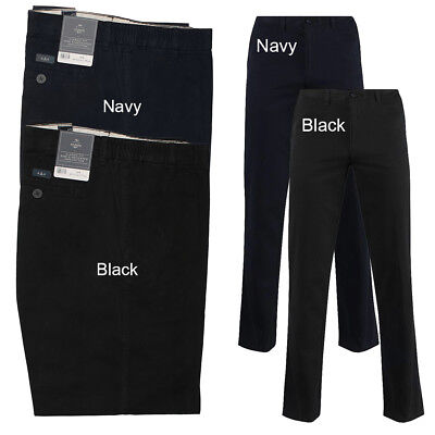 Men New BHS Atlantic Bay Side Elasticated Waist Classic Fit Chino Trousers