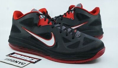 watch 7a58c 11175 Nike Air Max Lebron Ix 9 Low Used Size 15 Heat Away Black Red 510811 003