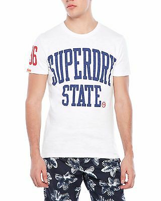 fec47c69 SUPERDRY MEN'S SLUB White Tee T-Shirt. 100% Cotton. Size XXL. $29.50 ...