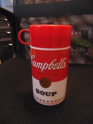 Vintage 1998 Campbell's Soup Thermos-11.3 Ozs-20 Years Old-Soup Can-Used Once