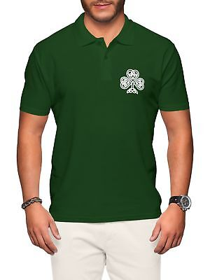 Ireland Polo Shirt Mens Rugby Vintage Irish Badge Nations Cup Man