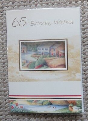 65th Birthday Wishes Riverside Village Greetings Card