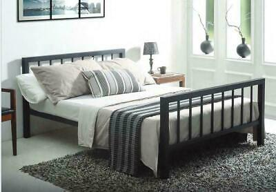 Metro Black Metal Bed Frame Modern Style Extra Strong Single Double King Size