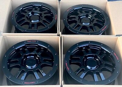"ff3801a29ea 17"" Toyota Tundra TRD Rock Warrior Rims Factory OEM Wheels Black 17 Trd  2007 Up"
