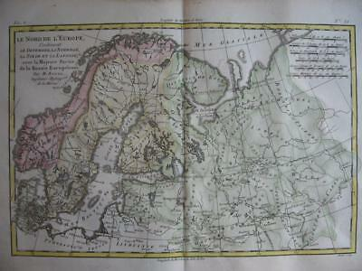 1780 - BONNE - Map  NORWAY  SWEDEN  FINLAND  BALTIC STATES  NORTHERN RUSSIA