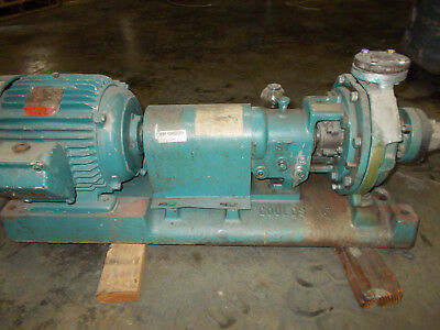 316 STAINLESS STEEL Goulds Pump 3196 1x1 5-8 with 10HP Motor, Cast Iron Base