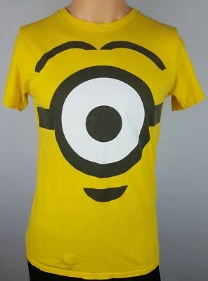 Despicable Me 2 Men's Shirt Siz S Small Yellow Minion Eyeball Animation Movie