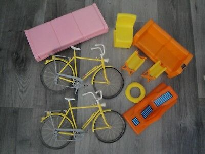 Vintage Lot Of 1973 Barbie Doll Furniture Townhouse Bicycle