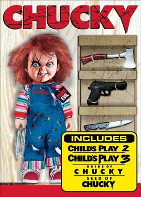 CHUCKY THE KILLER COLLECTION New DVD 4 Sequels Child's Play 2 + 3 + Bride + Seed