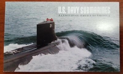 2000 USPS US Navy Submarines Stamp Booklet with 10 Stamps / $9.80 Value
