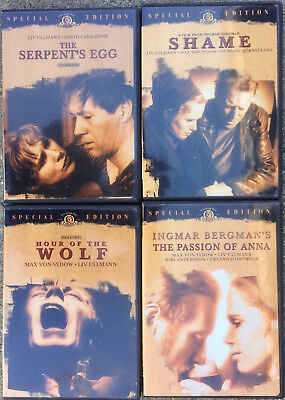 4 Ingmar Bergman Films - Passion of Anna, Shame, Hour of the Wolf, Serpent's Egg