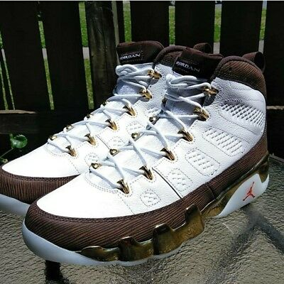 buy popular 51050 aee89 NIKE AIR JORDAN 9 IX Retro MOP Melo Gold 100% Authentic Size 10.5 302370-122