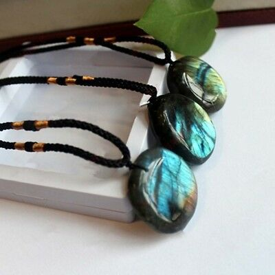 Fashion Natural Labradorite Pendant Crystal  Necklace Healing Stone Necklace