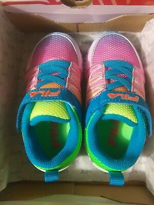 9a0774359756 Fila Crater 5 Infant s USA Size 5 Neon Multi-Color Girls sneaker tennis shoe