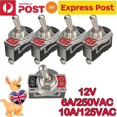 5 X 12V Heavy Duty Toggle Flick Switch ON/OFF Car Dash Light Metal