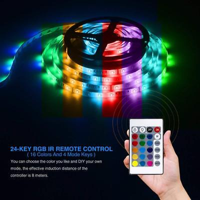 LED Strip Light 5M SMD RGB 300 Color Changing 12V Waterproof LED Ribbon for Home