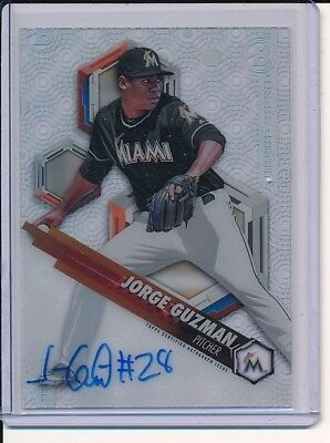 2018 Bowman High Tek Prospects Auto AUTOGRAPH JORGE GUZMAN MIAMI MARLINS
