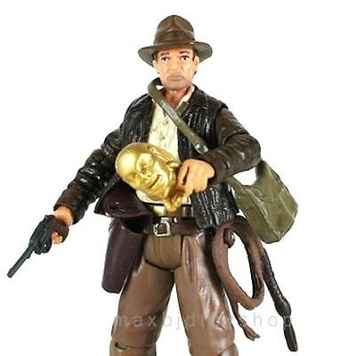 New 3.75'' Indiana Jones Raiders Of The Lost Ark with Gun Mask Kits Accessory
