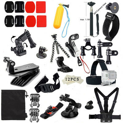 Outdoor Water Sports Accessories 48-In-1 Action Camera Kit Box for GoPro Hero 4