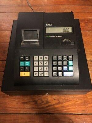 ROYAL 210DX ELECTRONIC Cash Register Not Fully Tested Sold As Is For Parts