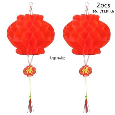 2pcs Chinese Red Lanterns For New Year Chinese Spring Festival Wedding AGSG 01