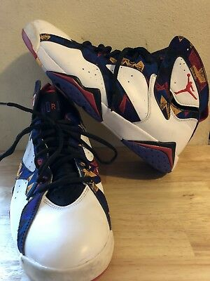 662970f04c636f JORDAN 7 VII Retro Nothing but Net 304772-142 White Red Black ...
