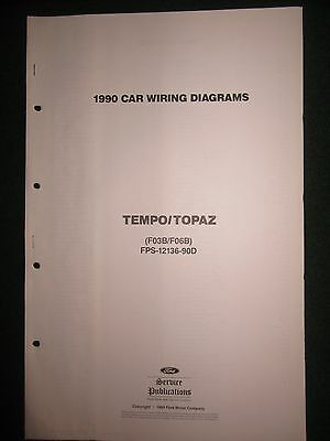 1990 ford tempo topaz electrical wiring diagram manual schematic sheets oem