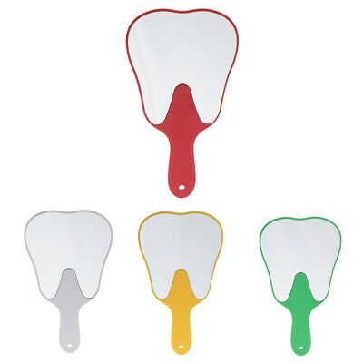 Tooth Shaped Hand Held Makeup Mirror Dental Clinic Gift for Women Kids Girls