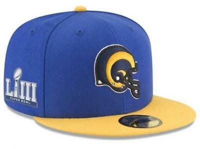 defb7e876 Official NFL Super Bowl LIII 53 Los Angeles Rams New Era 59FIFTY Fitted Hat