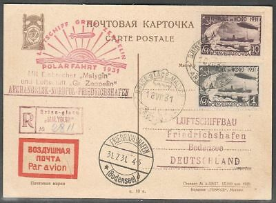 Russia 1931 Post card Polar Flight 'Malygin' Graf Zeppelin