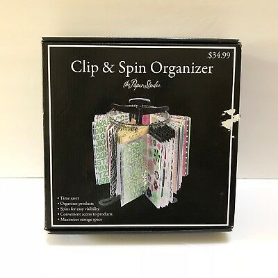 The Paper Studio Scrapbook Sticker Organizer Craft Storage Clip & Spin NEW OpnBx