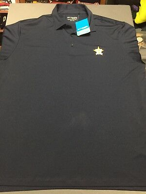 b14b25c21c5 NWT Men's COLUMBIA HOUSTON ASTROS Omni Wick Shade Golf Shirt Sz 2XL XXL MLB  NEW