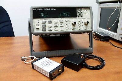 AGILENT HP █ 53131A 012 █ FREQUENCY COUNTER and 1:100 22GHz MICROWAVE DIVIDER 🙂