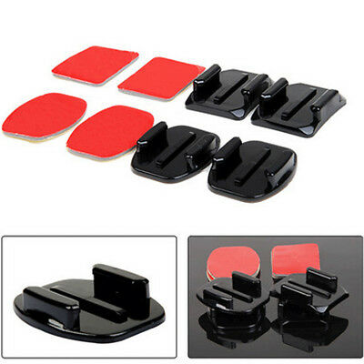 4Pcs Helmet Adhesive Mounts For Gopro Hero 2 3 4 Sjcam Flat Curved Accessories
