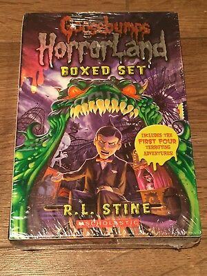 Goosebumps Horrorland Boxed Set by R L Stine (Book 1-4). BRAND NEW.