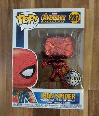 Iron Spider Red Chrome Funko Pop - US Exclusive Spider-Man Avengers Infinity War
