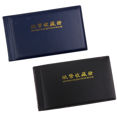 Collectibles 2Pcs Banknote Storage Album Book 30 Pages Folder for Collection