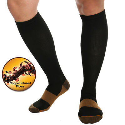 15-30mmHg Copper Medical Compression Socks Relief Support Varicose Travel Flight