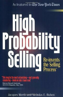 High Probability Selling by Werth Hardback Book The Cheap Fast Free Post
