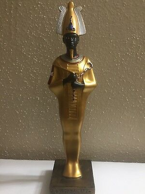 Golden carved Ancient Egyptian KING RAMSES II Statue From Egypt collectible