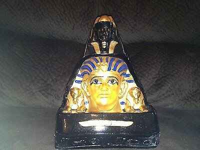 Rare Huge The Egyptian Tomb of King Tut With Lamp for light Glory look.. Statue