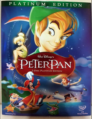SEALED DVD Peter Pan (DVD, 2007, 2-Disc Set, Platinum Edition) IN SLIPCOVER