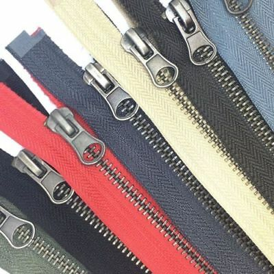 Metal Closed End Zips / 56 Variations Of Length & Colours - Great Value On Ebay!
