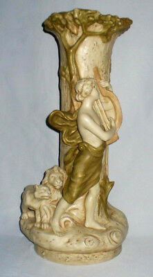 Ancien Grand Vase Porcelaine De Royal Dux Bohemia Apollon mythologie Art Nouveau