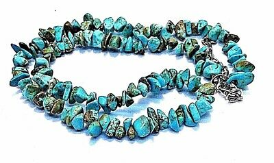 "Natural Turquoise nugget Native Tribal Southwestern 18"" + 2"" ext.  Necklace"