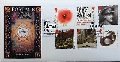 GB Fdc. WW1 2018 issue STAMPEX Handstamp Limited edition